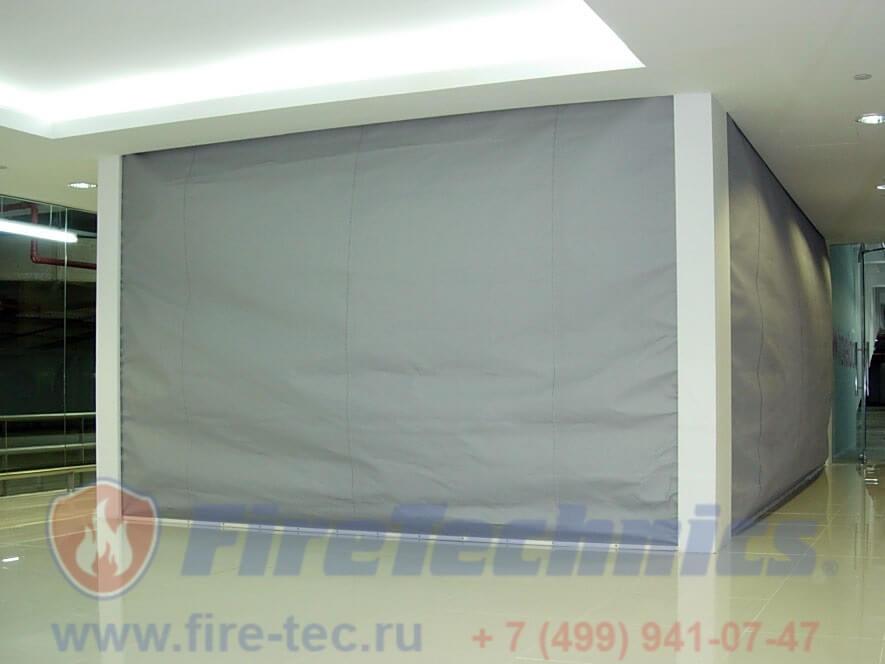 Противопожарные шторы EI60, EI120, EI180 (при орошении) в Казахстане