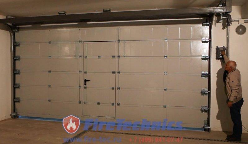 Секционные Противопожарные ворота с калиткой