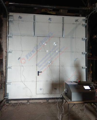 Испытания, Секционные противопожарные ворота FireTechnics FT-S EI60, Казахстан