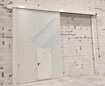 Откатные противопожарные ворота FireTechnics-Р EI60, Склад, Казахстан
