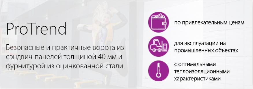Промышленные секционные ворота ProTrend в Казахстане
